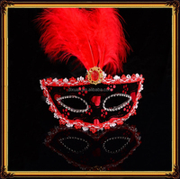 Halloween mask dult sex mask gril feather masquerade party mask