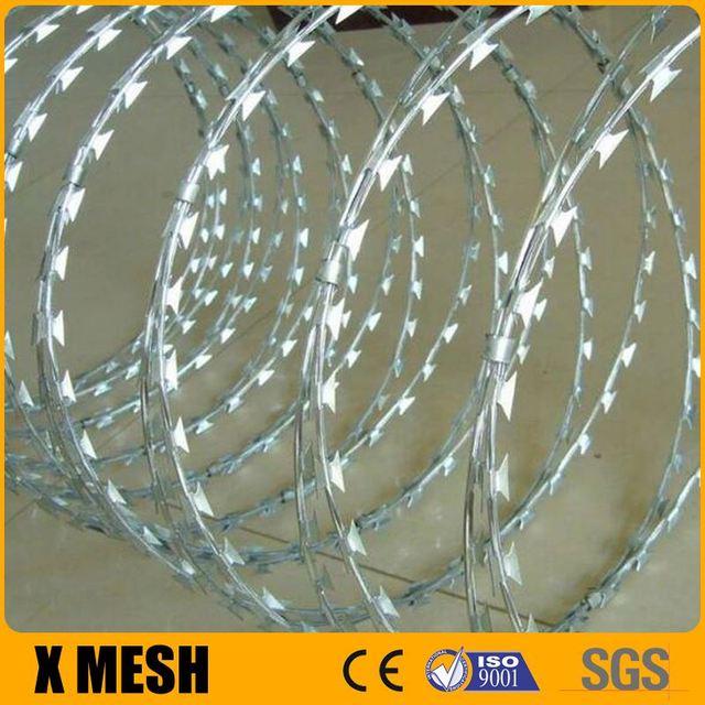anti-corrode BTO22 concertina razor wire for industry