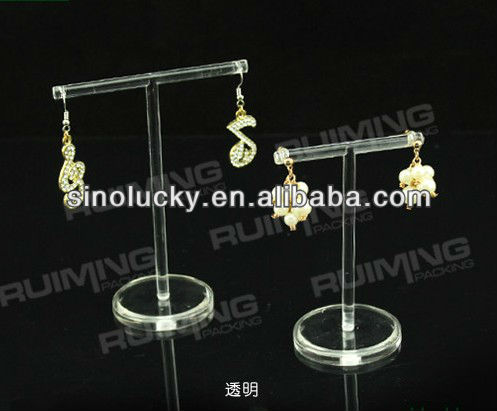 Acrylic Earring stud earrings aircraft accessories