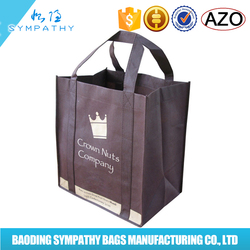 Promotional wholesale laminated cloth fashion cheap fabric foldable reusable gift PP non woven shopping bag
