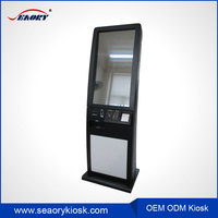 ticket printer touch screen kiosk/coupons printing machine