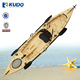 Roto-moulded Popular Single Fishing Kayak For Sale