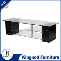 ikea tv cabinet showcase hot sale white living room furniture temper glass wooden tv table design High Gloss TV Stand