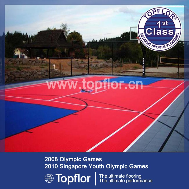 high quality PP used sport court flooring