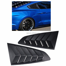 New Release Style Matte Black ABS Side Window Louvers Cover for Ford Mustang 2015-2017