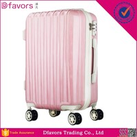 Factory price cabin size trolley luggage abs pc luggage abs / polycarbonate trolley luggage multiple colors