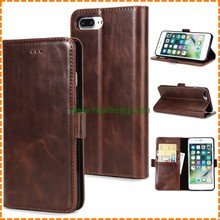 Retro Crazy Horse Pattern Wallet Oil Side Folding stand leather case for iphone7