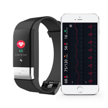 J-Style 1790 New fitness band PPG ECG <strong>smart</strong> <strong>watch</strong> with ecg electrocardiograph display holter heart rate monitor blood pressure