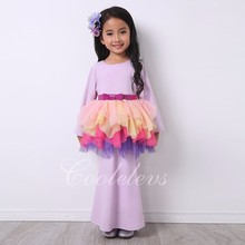 High Quality Malaysia traditional girls kids wear flower dresses for small girl MLZ101