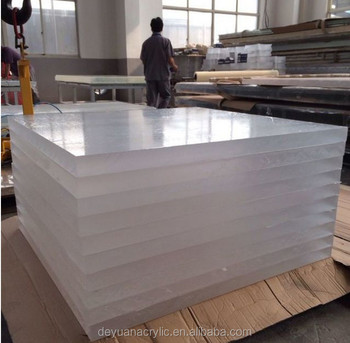 Customized transparent 10mm acrylic aquarium sheet