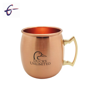 Custom 18oz Solid Copper Mugs Moscow Mule Mug 100% Copper