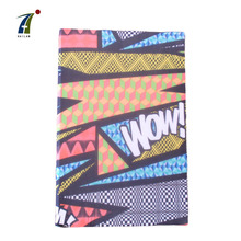 Hotsale china supplier cartoon print a4 a5 a6 size stretchy fabric book cover