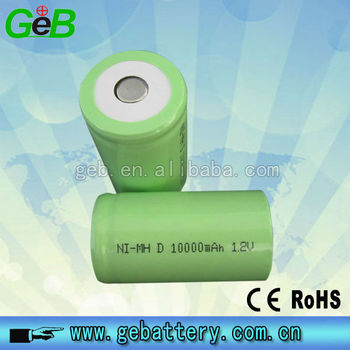 1.2V rechargeable Ni-MH D size 10Ah battery/1.2v li-ion rechargeable batteries