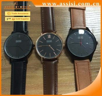 New 2017 leather Sapphire Quartz Watches Men Business Style 30 Meters Waterproof Watches