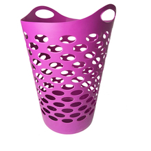60L new style plastic laundry basket hamper with handle