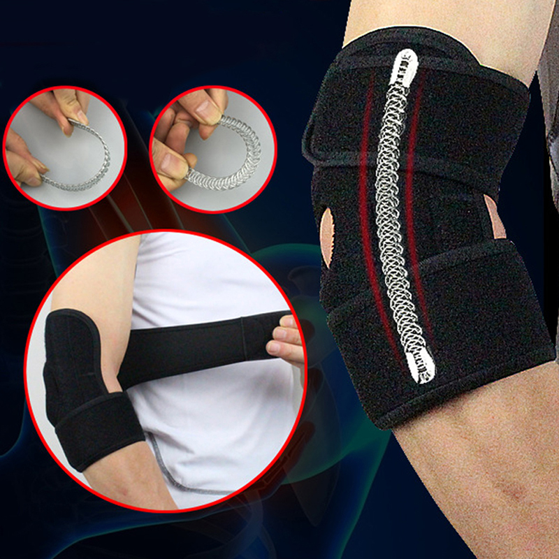 Spring Supporting Adjustable Elbow Support Pads with Sports Safety Codera Protector