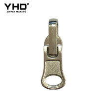 luggage metal jacket coil antique two-way zipper slider sizes puller design with sliders pull