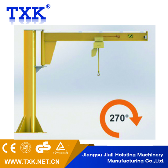 5 ton pillar hoist small jib crane 360 Degree rotating floor mounted arm Crane