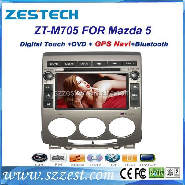 ZESTECH China 2 din radio car digital tv car antenna car gps navigation for Mazda 5 with video input