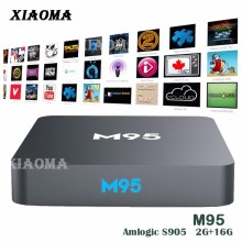 M95 Amlogic S905X Quad Core 2G DDR 16G EMMC KODI 16.0 Android 5.1 Mali-450 5-Core GPU TV BOX