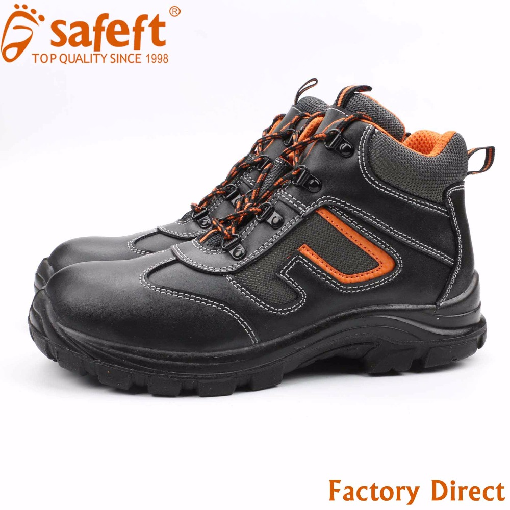 Black sport antistatic brand name high heel steel toe safety shoes price in pakistan