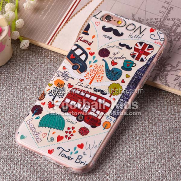 Custom soft transparent clear tpu smartphone cases for iphone 6 6s mobile phones accessories,case silicone for case smartphone