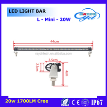 New 5D single row 5w chip led offroad light bar 10w 20w 30w 40w 50w 60w mini led work light bar