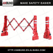 Expandable parking lot fence for safety