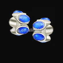 2013 Top Rated Shining Crystal Silver Charm For bracelet or necklace