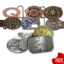 factory metal fashion custom belt buckle makers
