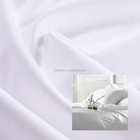 hotel poly cotton satin white fabric rolls nantong textile