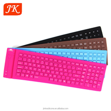 Flexible wireless silent silicone computer keyboard