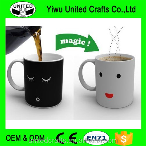 Magic Morning Mug Heat Sensitive Face Color Change Coffee Mug Cup New