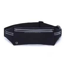 Reflective elastic fitness men women unisex Sport waterproof neoprene running pouch waist belt