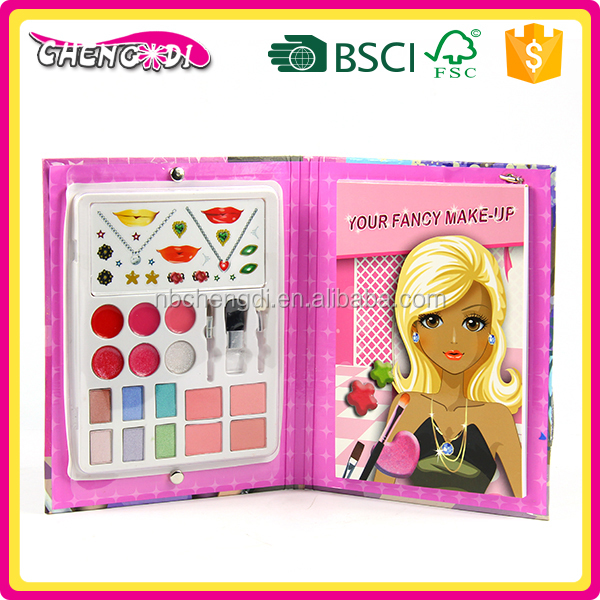 Super style ODM beauty toy lipstick/check make up girl's game