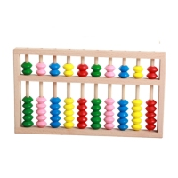 2018 Hot selling Math learning tools High quality Beech wooden kids gift abacus