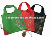 Wholesale - pro-environment Strawberry Folding Tote Bag