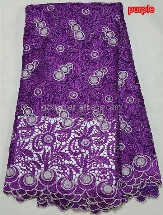 Unique design African cord lace/cupion lace fabric/embroidered cotton dubai laces