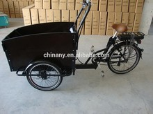 Hot sale three wheel electric cargo bike with padel /electric city cargo bicycle for family /tricycle with factory price UB9031E