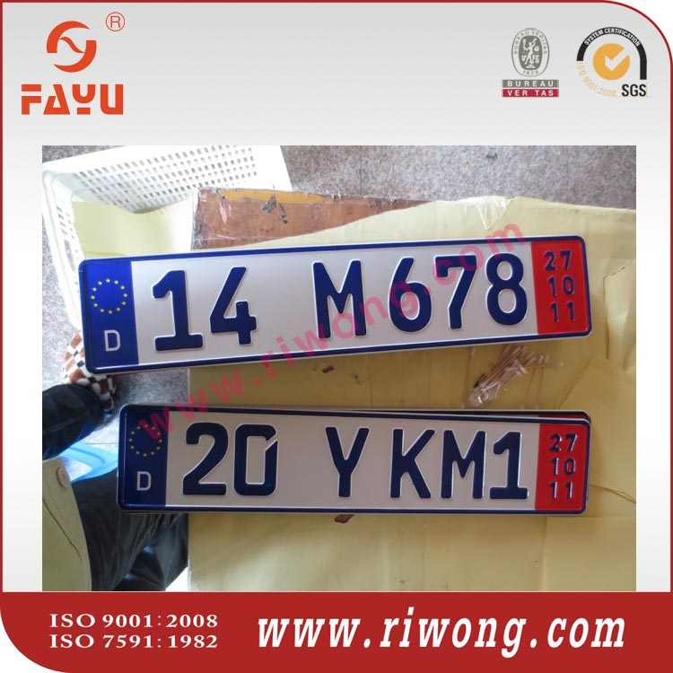european car number plates with serial numbers