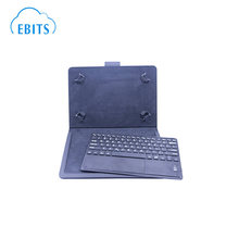 Magnetic wireless tablet keyboard with PU leather case stand