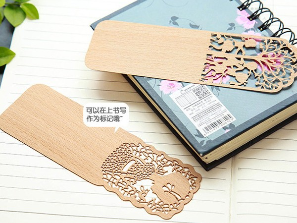 hollow wood bookmarks
