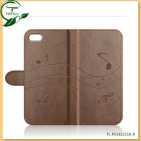 newest leather case for iphone 4 with magnetic flip, for iphone wholesale mobile phone wallet cases covers OEM design