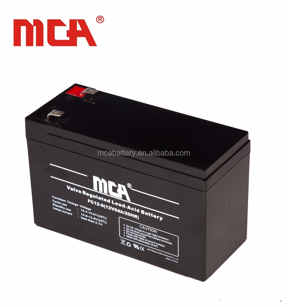 Hot sale vrla agm12v 9ah dry battery for ups price in pakistan