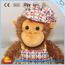 2017 china hot sale huge plush monkey small toy