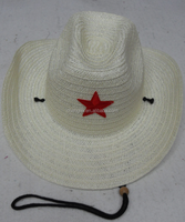 Promotional mexican paper straw cowboy hat for men