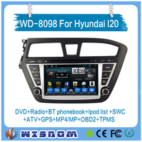 car dvd player for hyundai i20 2015 android car media gps navigation with ROHS chip&plastics support fm radio BT apps download