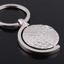Wholesale Promotional Globe Shape Metal Keychains