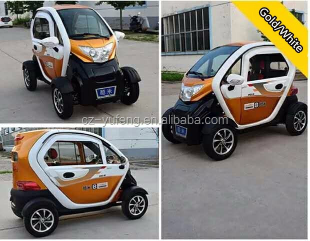 Hot sales closed cabin passenger Electric car with four wheels