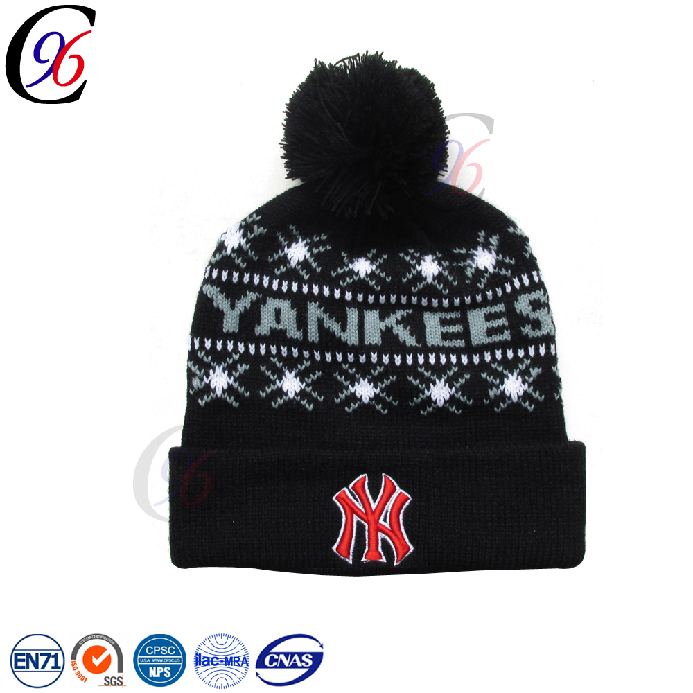 Chengxing new style fashion custom warm winter cheap outdoor wholesale hot selling fluorescent colorful acrylic knitted beanie